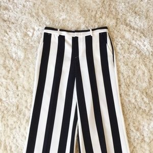 Striped Trousers From Alice + Olivia: Black/White
